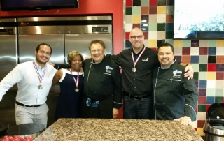 Winning Team with Culinary Medals